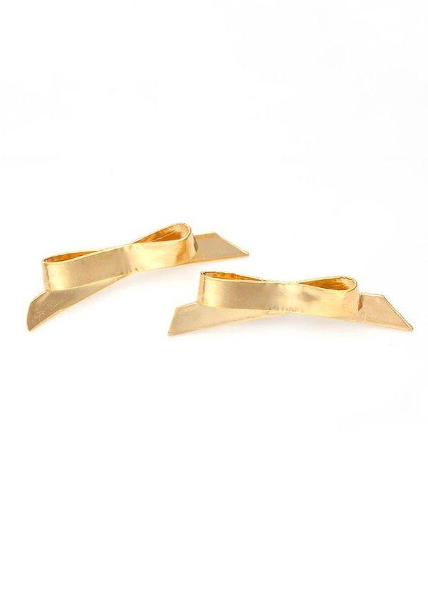 Mirit Weinstock petite bows studs - Gold