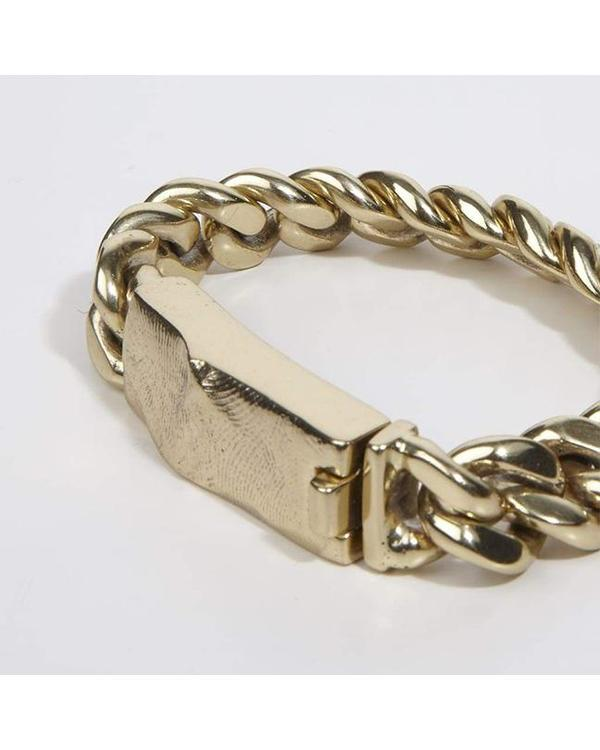 Cornelia Webb Heavy Chain Bracelet With Molded Clasp - Brass