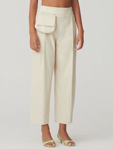 Paloma Wool Jueves Cotton Linen Pants - Off White