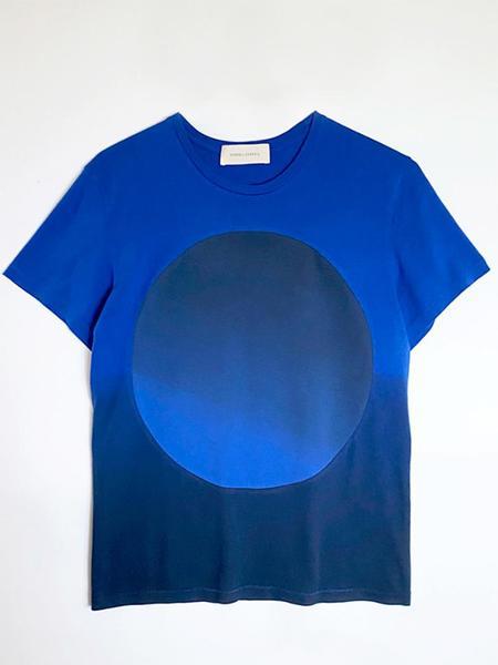 Unisex Correll Correll Sun and Moon T-Shirt - Blue
