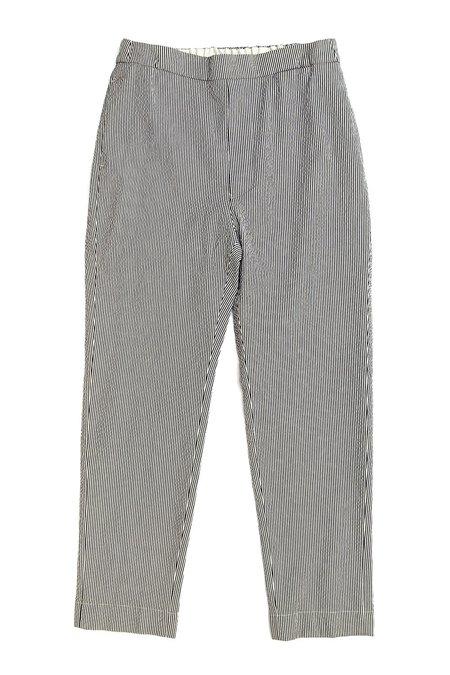Sibel Saral Seersucker Pullup Pant - Black/White