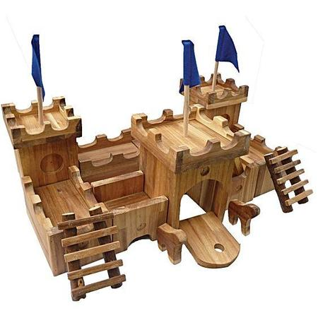 kIDS Shop Merci Milo Wooden Medieval Castle Set