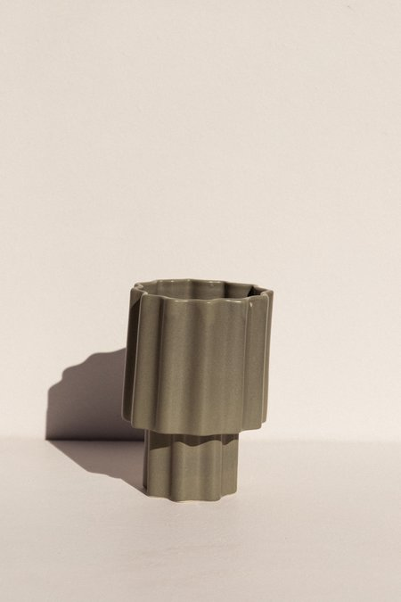 Ella Reweti Tapered Vase - Green