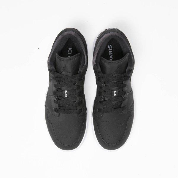 Kids Air Jordan 1 Low Paris Saint Germain Gs Black Dark Grey