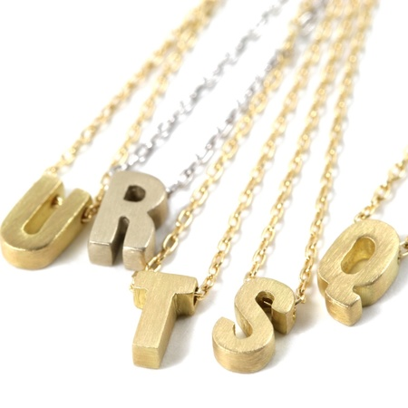 Marian Maurer Micro Initial Necklace - 18K Gold