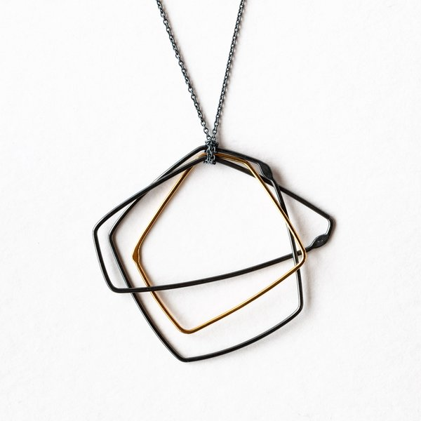 Gabrielle Desmarais Gold & Oxidized Silver Necklace