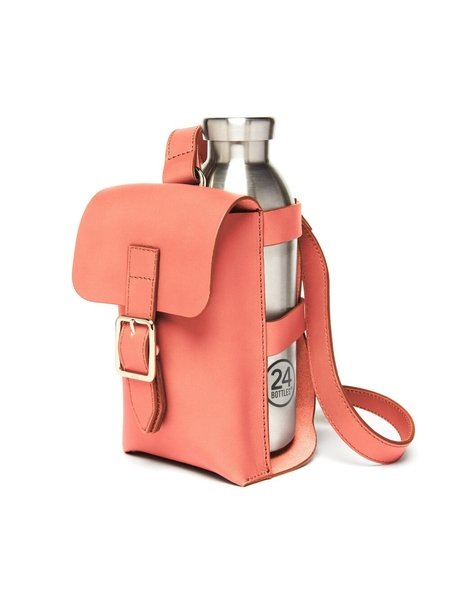 Officina del Poggio Bottle Bag - Corallo Leather