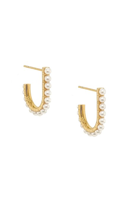 MOD + JO JAMEELA PEAR EARRINGS - 18k gold