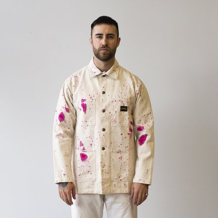 Stan Ray Shop Jacket - Natural/Purple Paint