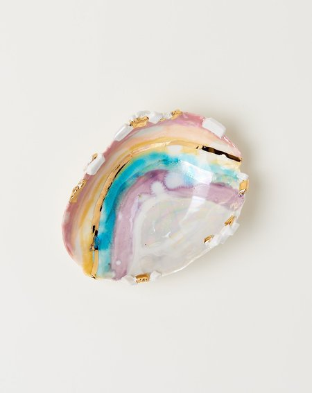 Minh Singer Small Prism Shell with Gold Crust