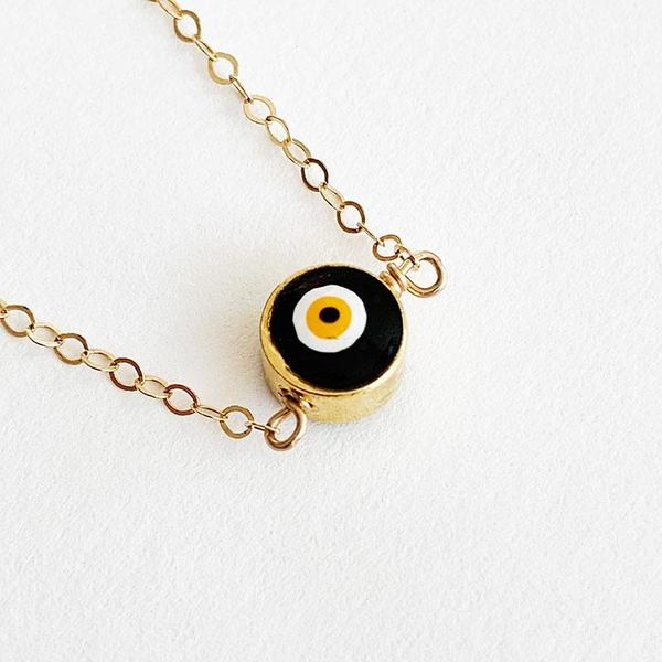 Bijoux B Simple Evil eye necklace - 14K Gold