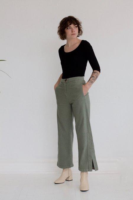 Rita Row Wide Leg Jeans - Khaki