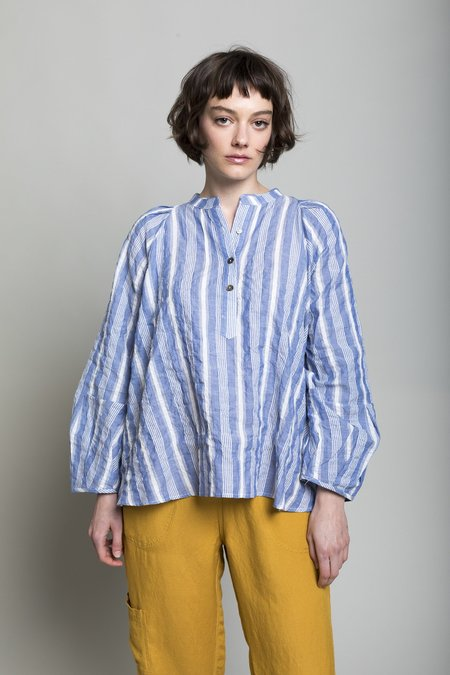 Pietsie Atlin Shirt - Blue/White Souk Stripe