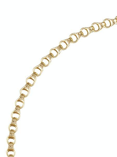 Machete Small Bone Chain Necklace - Gold