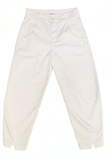 Transit Par Such Cotton Trousers - Chalk