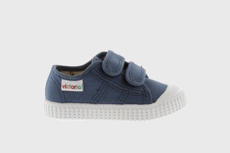 Kids Victoria Double Velcro Shoes - Jean