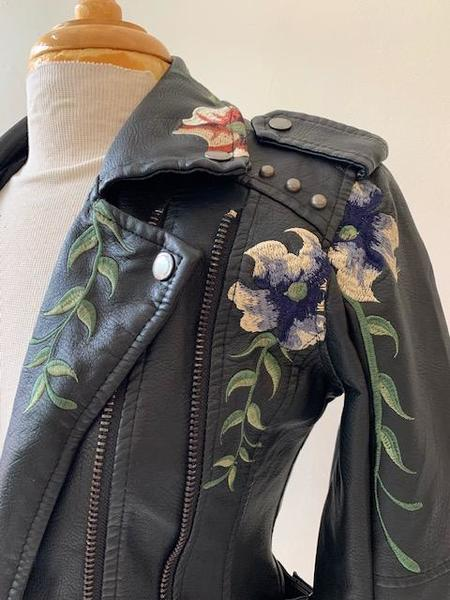 [Pre-loved] Blank NYC Floral Embroidered Jacket - BLANK NYC