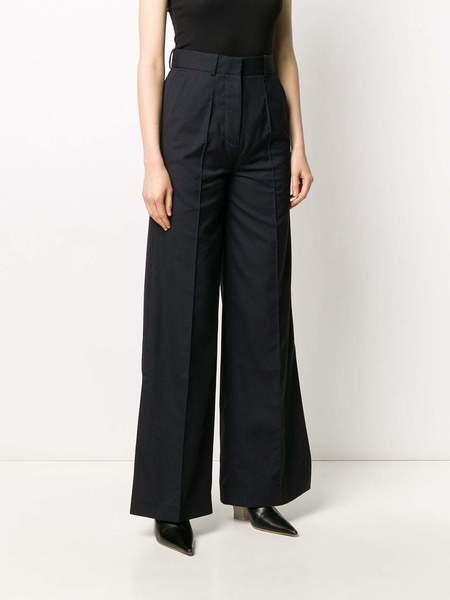 Rokh Wide Leg Trouser - Navy