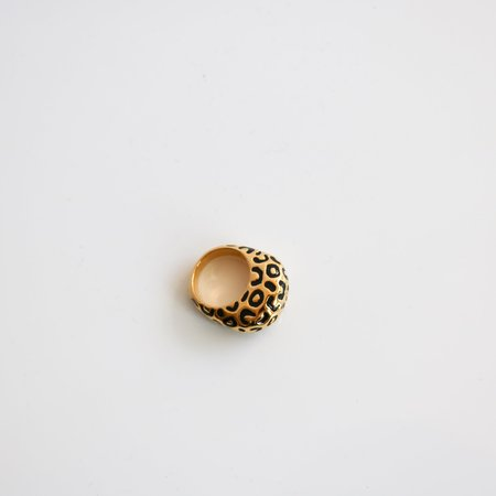 [pre-loved] Dome Ring - Leopard Print