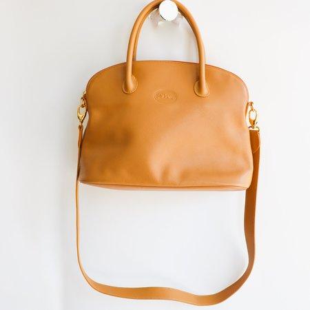 [Pre-loved] Longchamp Top Handle Bag - Tan