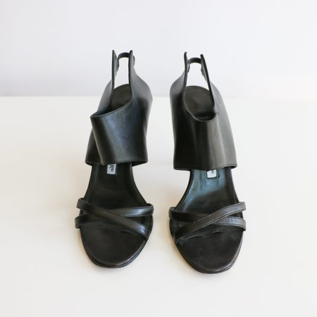 [Pre-loved] Manolo Blahnik Glove Sandal - Black