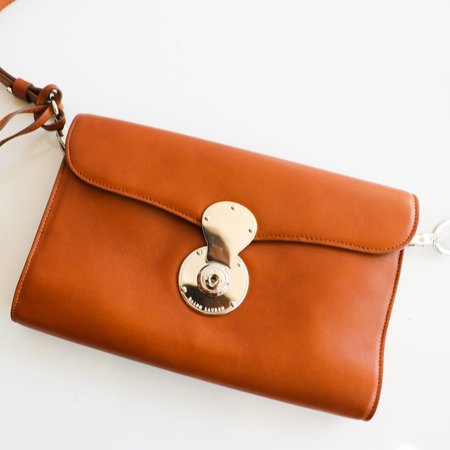 [Pre-loved] Ralph Lauren Ricky Clutch - Tan