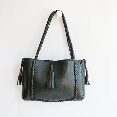 [Pre-loved] Wendy Nichol Leather Tote - Black
