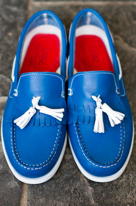 La Paz Galo Boat Shoes - Royal Blue