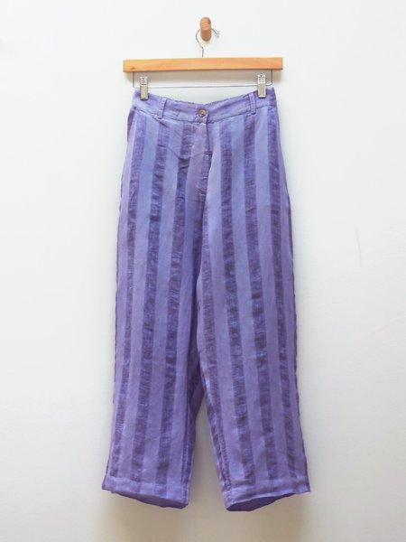 Untitled Co. Erin Stripe Pant - Purple Linen