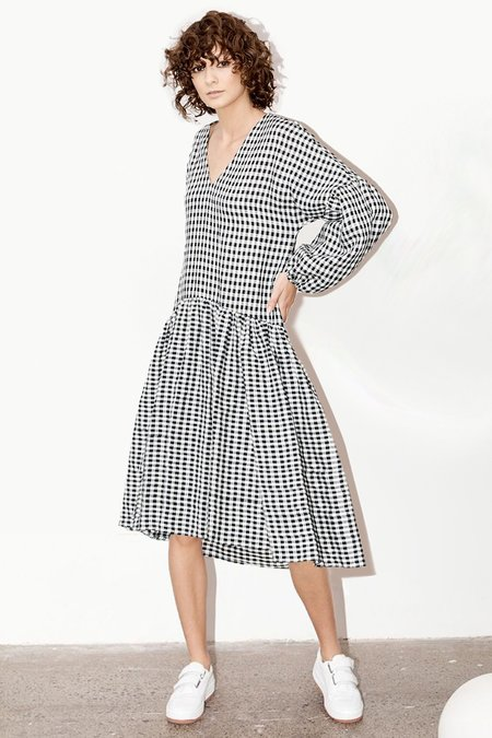 Milk & Thistle Florence Dress - Gingham (DELIVERY 22nd June)