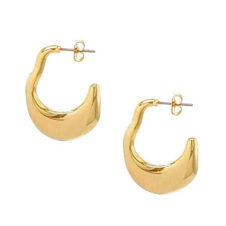 Mod + Jo Sophie Hoop Earrings - 18k gold plate over brass