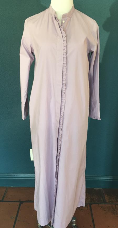 Ne Quittez Pas Plain Frill Dress - Lilac