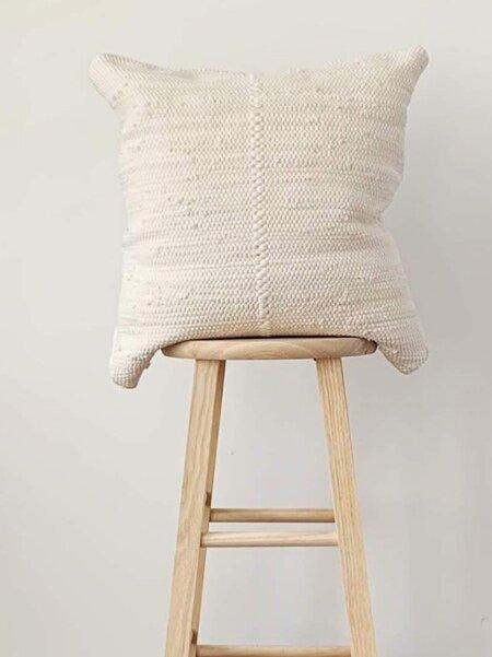 Cuttalossa & Co. Cotton Woven Pillow - Cream