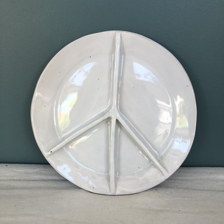 Ariel Clute Sectional Peace Plate - white