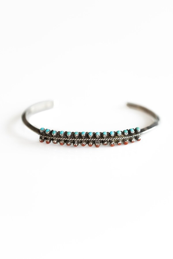 Vintage ZUNI SMALL PETIT POINT CUFF - Silver