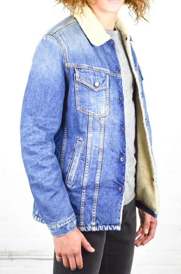 Nudie Lenny Tangerine Blue Denim Jacket Garmentory