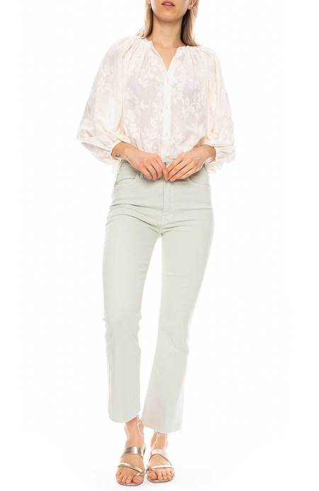 RON HERMAN CALIFORNIA Embroidered Blouse - IVORY