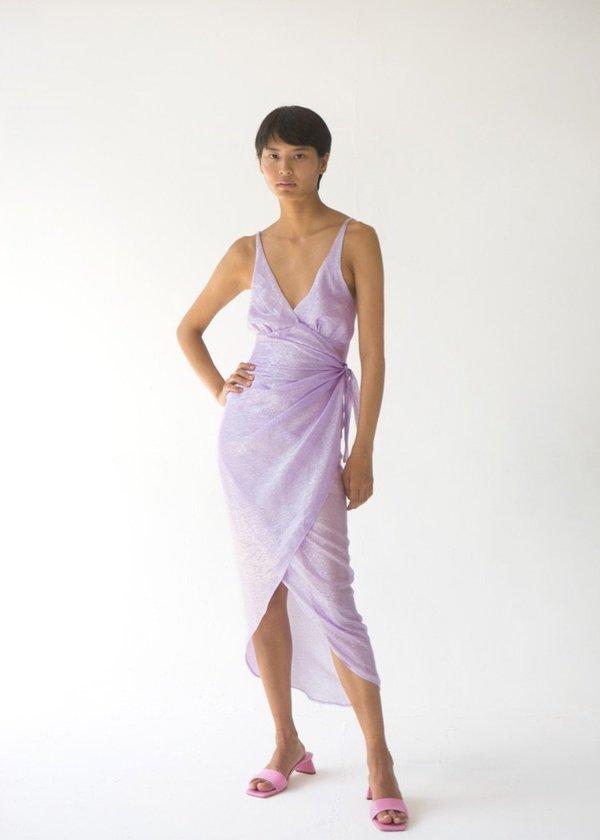 Tach Clothing Atocha Wrap Dress - Lavender