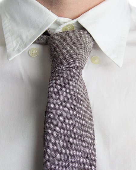 Forth and Nomad Chambray Tie - Eggplant