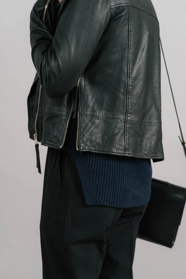 Just Female Stone Zip Leather Jacket
