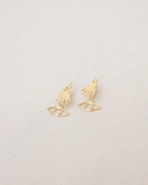 Nina Berenato See No Evil Earrings - gold