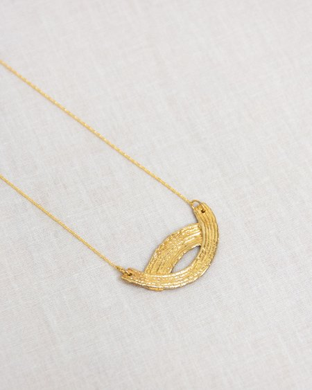 COG Collection Wave Necklace - 14K gold-plated
