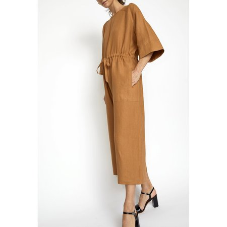 No.6 Ida Jumpsuit in Toast Linen
