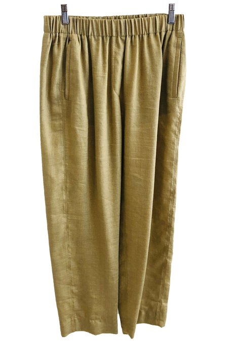 Giada Forte Forte Forte My Pants Shantung Canvas Pants With Elastic - Oro