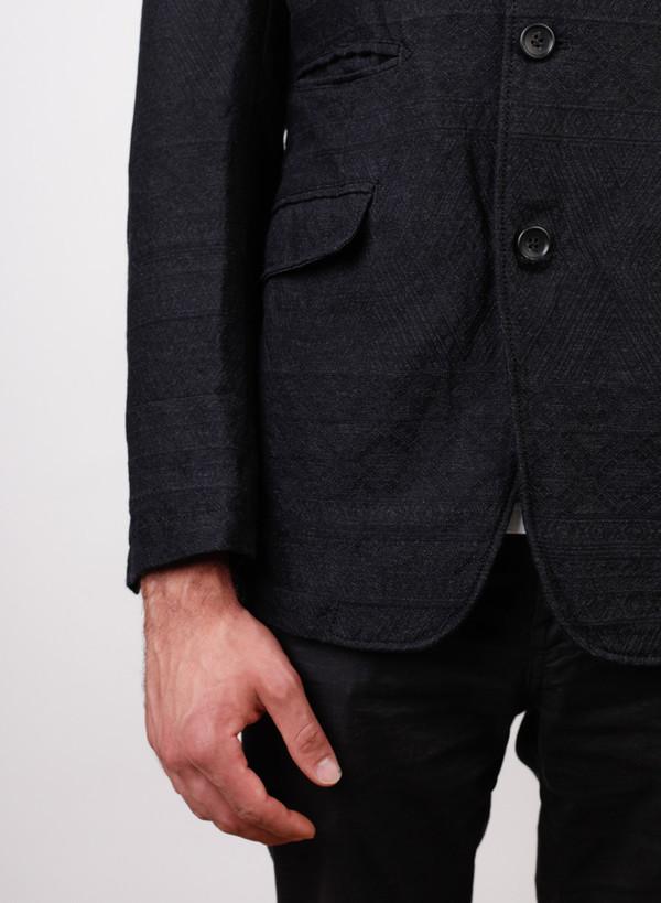 Engineered Garments Andover Wool Geo Jacquard Jacket - Charcoal