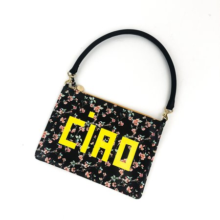 Clare V. Flat Clutch with Tabs - Cherry Blossom