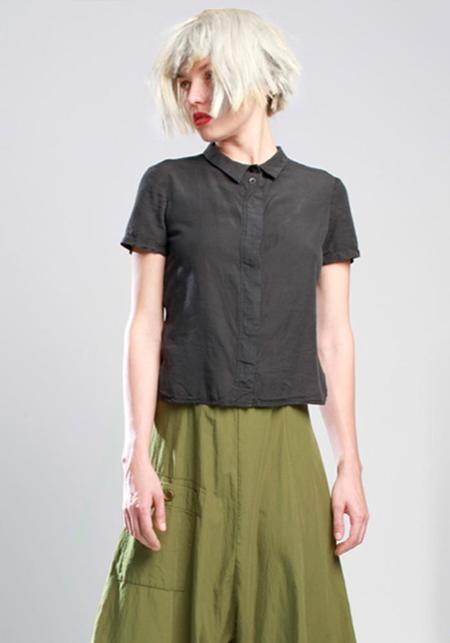 Lurdes Bergada Short Sleeve Button Down Collared Shirt