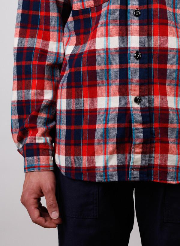 Engineered Garments Plaid Flannel Work Shirt