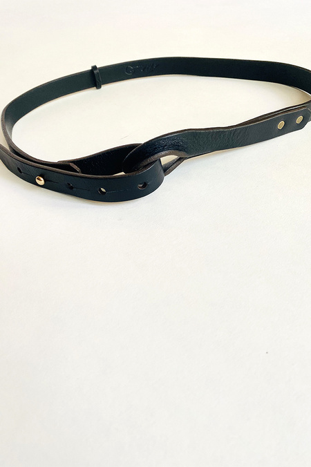 De Palma Nuova Leather Belt - Black