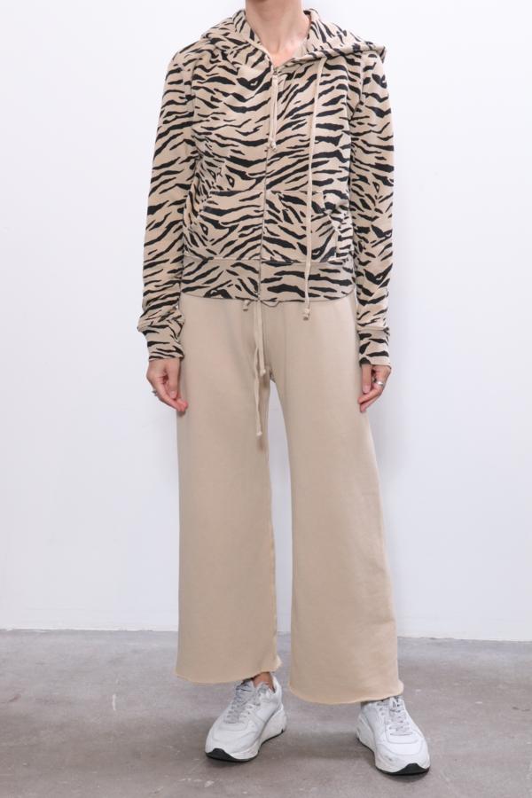 Nili Lotan Callie Zip Up Hoodie - Sandstone Black Zebra